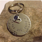 Personalised Latitude and longitude coordinates - with personal message on disc